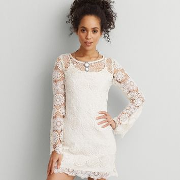 1ab5e21a30f AEO Lace Shift Dress from American Eagle Outfitters