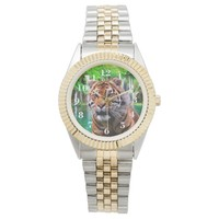 Tiger Unisex Two-Tone Bracelet Watch