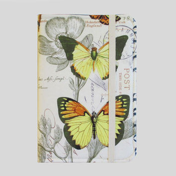 Kindle Cover Hardcover, Kindle Case, eReader, Kobo, Nook, Nexus 7, Kindle Fire HDX, Kindle Paperwhite, Nook GlowLight Butterfly Journal