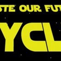 Don't waste our future Recycle. -Magnetic Bumper Sticker.