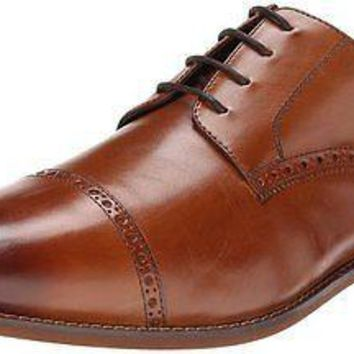 NEW FLORSHEIM CASTELLANO CAP TOE OXFORD SADDLE TAN MENS SHOES