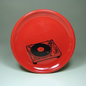 little plate turntable (berry red) - Made to Order / Pick Your Colour
