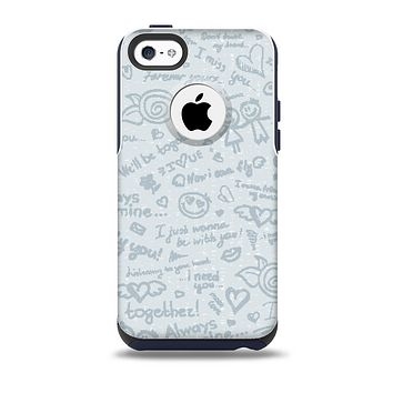The Love Story Doodle Sketch Skin for the iPhone 5c OtterBox Commuter Case