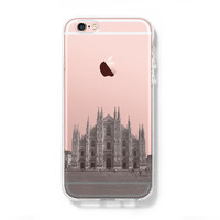 Milan Cathedral Antique Italy iPhone 6s Clear Case iPhone 6 Cover iPhone 5S 5 5C Hard Transparent Case C022