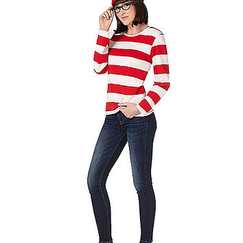 Adult Wenda Costume- Where's Waldo - Spirithalloween.com
