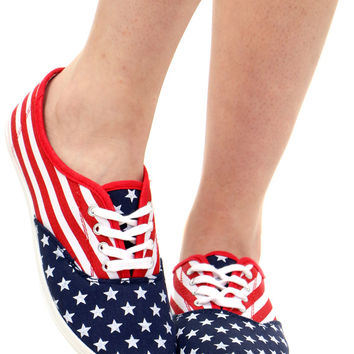 STARS N STRIPES TENNIS SHOE