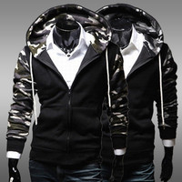 Camouflage Men Hot Sale Slim Hats Hoodies Jacket [6528753923]