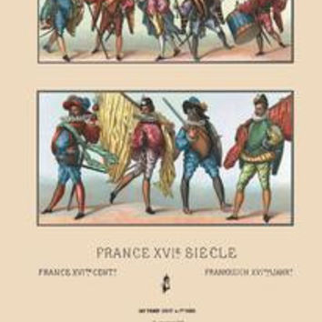 Masculine French Fashions of the Sixteenth Century: Fine art canvas print (12 x 18)
