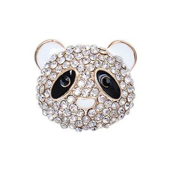 Happy Source Valentines Jewelry Australian Crystal Cute Chinese Panda Shaped Brooch Pin