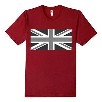 UK Union Jack Flag T-Shirt in Black and White