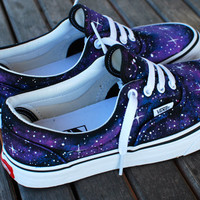Custom Galaxy Vans Era shoes