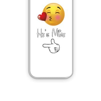 emoji he is mine - iPhone 5&5s Case