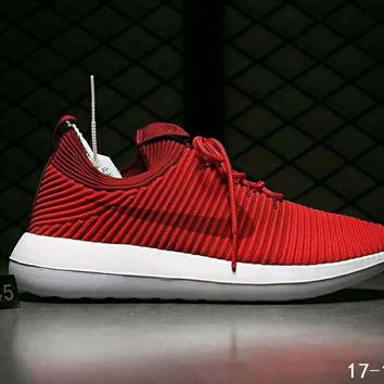 Nike Roshe Two Flyknit V2 Fashion Women Men Running Sport Casual Shoes Sneakers Red I-HAOXIE-ADXJ