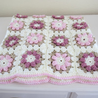 Baby Blanket Pattern, Crochet Baby Blanket Pattern, Rose Baby Blanket Pattern, Crib Blanket, Flower Blanket Pattern