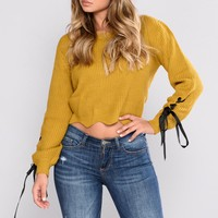 All That Matters To Me Sweater - Mustard