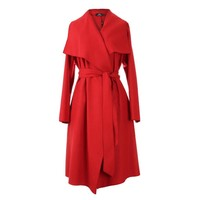 New Autumn High Fashion Women's Wool Blend Trench Coat Casual Long Outerwear Loose Clothing for lady