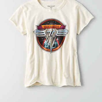 AEO Van Halen Band T-Shirt , Natural White