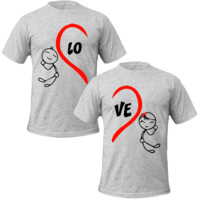 love heart T-shirt Love Couple