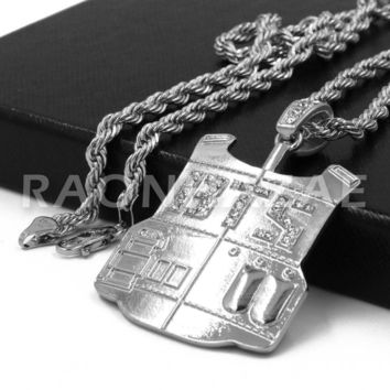BTS Army Vest Pendant w/ 4mm Rope Chain