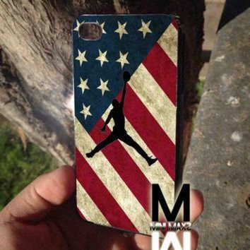 DCKL9 vinta us flag nike jordan case for iPhone 4/4s/5/5s/5c/6/6+ case,iPod Touch 5th Case,S