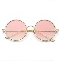 Women's Festival Indie Round Color Hippie Sunglasses