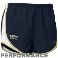 Nike Pittsburgh Panthers Ladies Navy Blue Dri-FIT Tempo Performance Training Shorts