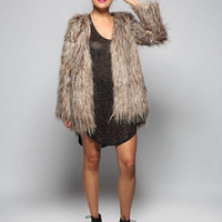 Bardot faux fur jacket | SHOPLUNAB