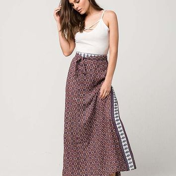FULL TILT Faux Wrap Medallion Maxi Skirt | Mid + Maxi Skirts