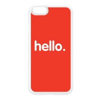 Hello White Silicon Rubber Case for iPhone 6 by textGuy
