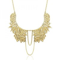 Metal Lace Necklace by Hallomall
