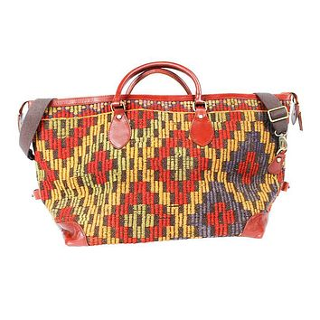 Kilim Weekender Bag in Aztec Red by Res Ipsa