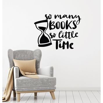 Vinyl Wall Decal Reading Books Quote Room Corner Library Reader Stickers Mural (ig6188)