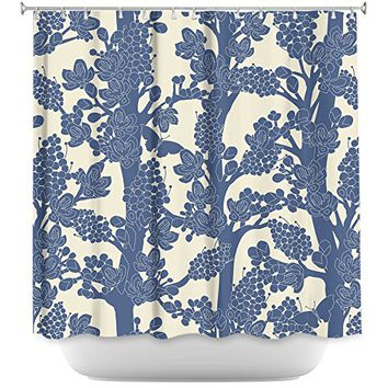 DiaNoche Designs Shower Curtains by Julia Grifol Romantic Tree II Stylish, Decorative, Unique, Cool, Fun, Funky Bathroom