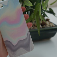 Rainbow Iridescent Dripping Holographic Tumblr IPhone 4/5/5S/4S/5C/6 Case