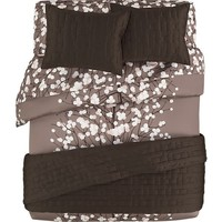 Marimekko Lumimarja Taupe Bed Linens in All Decorative Bedding | Crate and Barrel