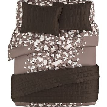 Marimekko Lumimarja Taupe Bed Linens In From Crate And Barrel