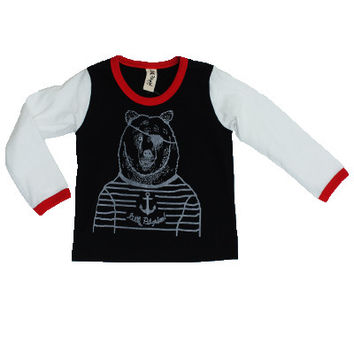 Bear Pirate Long Sleeve Tee