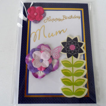 Cards - Happy Birthday Day Mum - Handmade Cards - Any occasion cards - Made in Australia - unique cards - Love - Happy - Hearts - 16