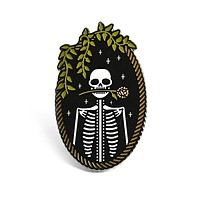 Jackie Skeleton Pin