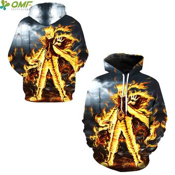 Naruto Uzumaki Skateboarding Hoodies Streetwear Sportsuit Sweatshirts Men 3d Print Cartoon Hoody Jogging Hooded Pullover Autumn