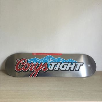 "CORYS TIGHT 8"" Canadian Maple Grey Skateboard Deck"