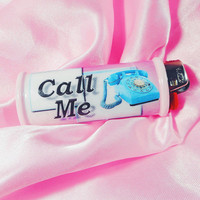 Call Me Dial Phone Bic Lighter Case