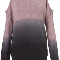 Dip-Dye Open Shoulder Sweat