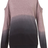 Dip-Dye Open Shoulder Sweat - New In This Week  - New In