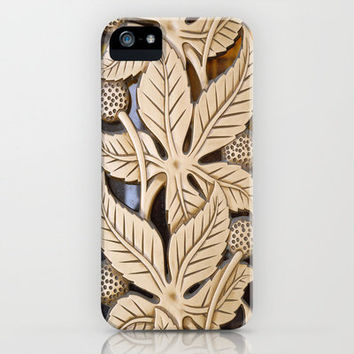 Bronze Art deco leaves iPhone Case by Wood-n-Images | Society6