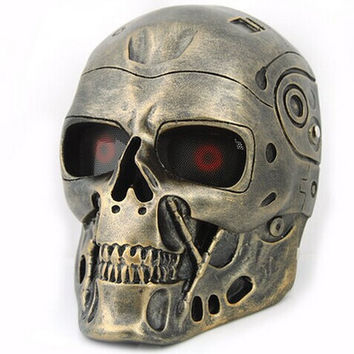 resin skull mask terminator mask CS mask skull head face guard mask halloween cosplay accessories carnival decoration scary wear