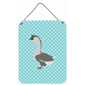 African Goose Blue Check Wall or Door Hanging Prints BB8073DS1216