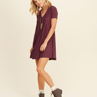 Knit Swing Pocket T-Shirt Dress