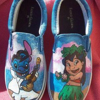 DCKL9 Hula Lilo and Elvis Stitch featuring Pleakley, Scrump and Pudge the fish. Custom paint