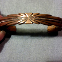 Vintage Copper Bracelet - Native American Design Cuff Bracelet - Southwest Tribal Look
